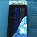 ZenFone3(ZE520KL)の液晶が虹色になっている場合の修理前写真