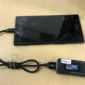 XZ Premiumの充電ポート交換修理前の写真