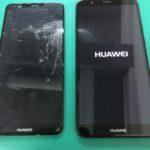 HUAWEI novalite2の画面交換修理前と修理後の比較写真
